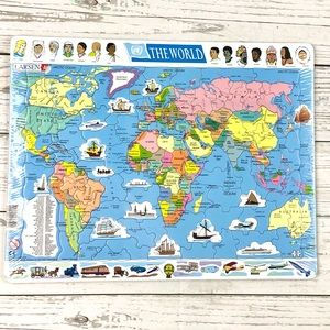 L.A. Larsen World Map puzzle, NEW